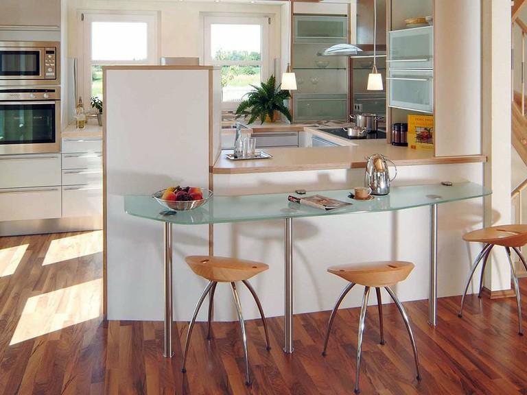 Innenansicht Küche - Musterhaus Vision Oberrot - Fertighaus Weiss