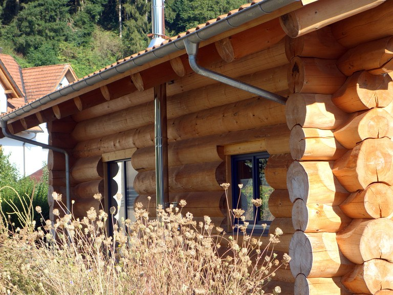 BlockHausBau Martin Schwarz - Bungalow Naturstammhaus 1