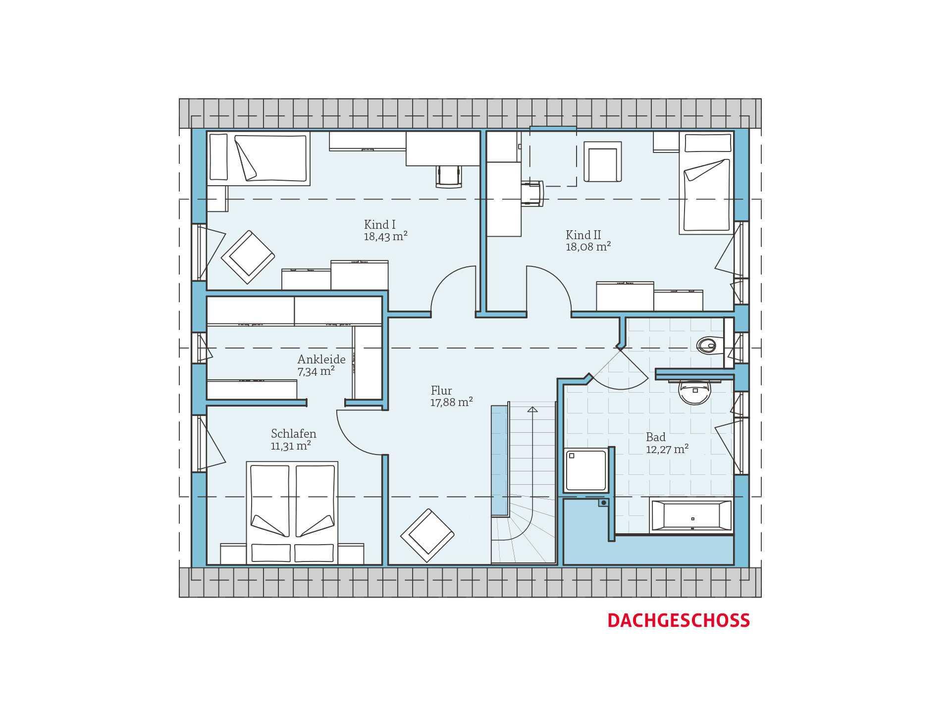 satteldachhaus variant 35 174 hanse haus. Black Bedroom Furniture Sets. Home Design Ideas