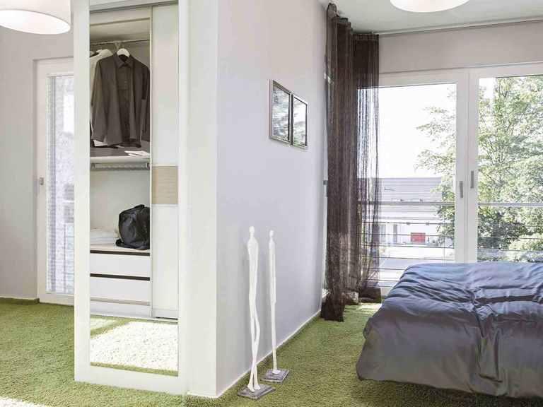 Pultdachhaus generation 5.5 - 300 - WeberHaus Schlafzimmer