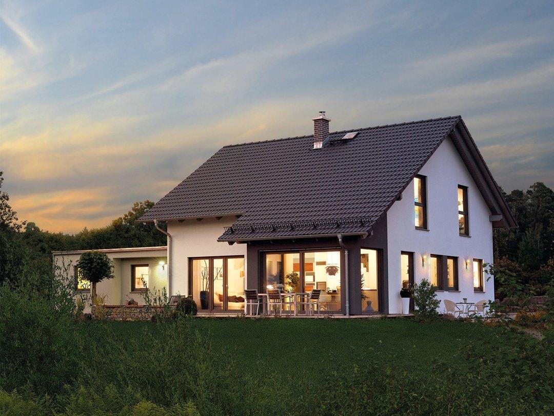 satteldachhaus variant 35 154 hanse haus. Black Bedroom Furniture Sets. Home Design Ideas