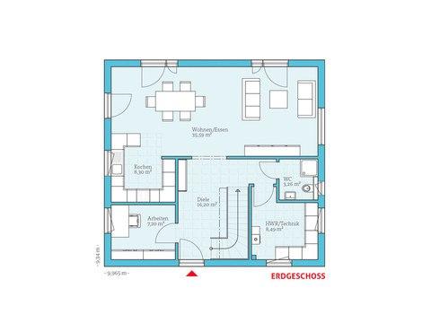Satteldachhaus Variant 35-154 Hanse Haus EG