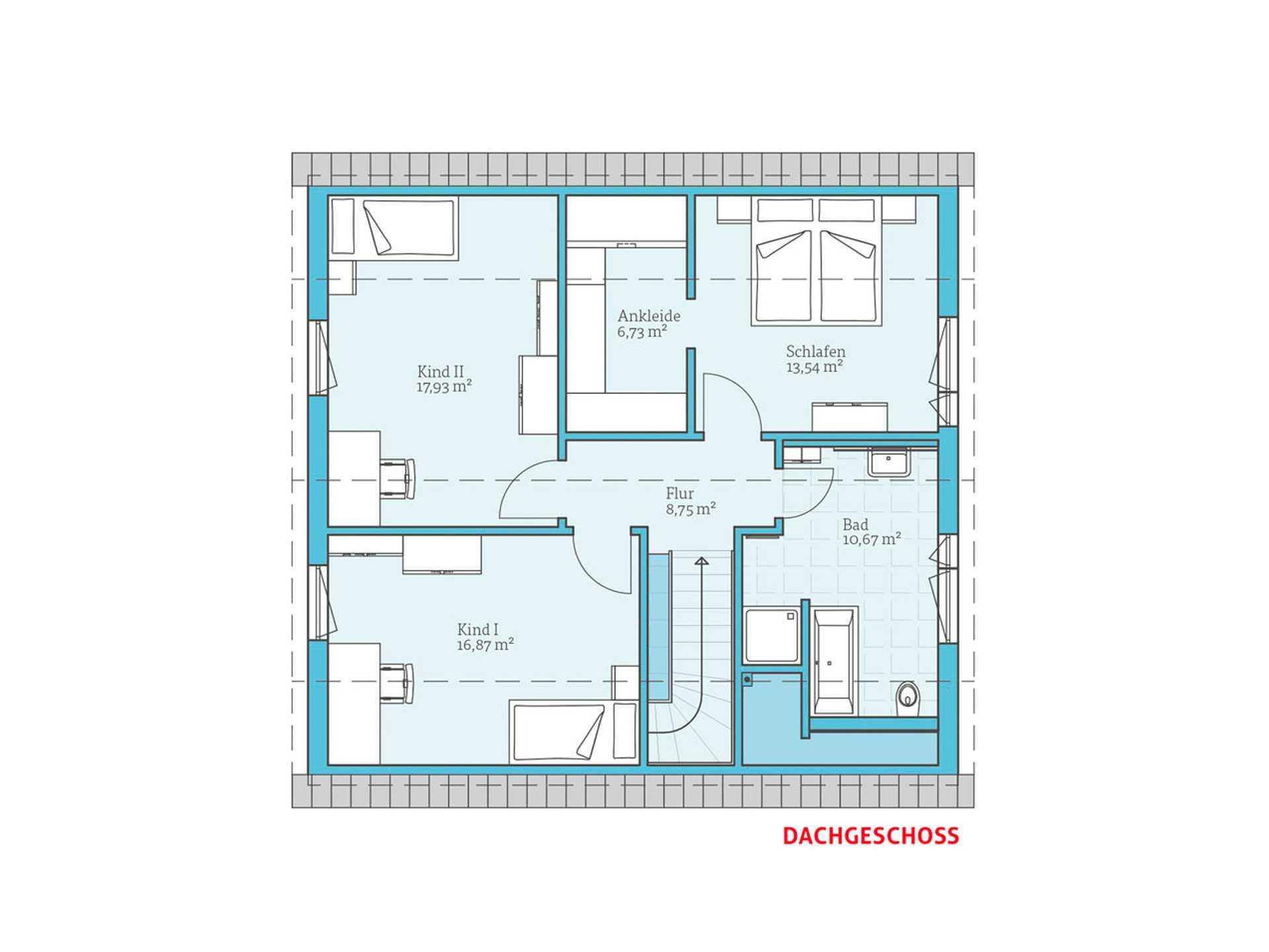 Satteldachhaus Variant 35-154 Hanse Haus OG