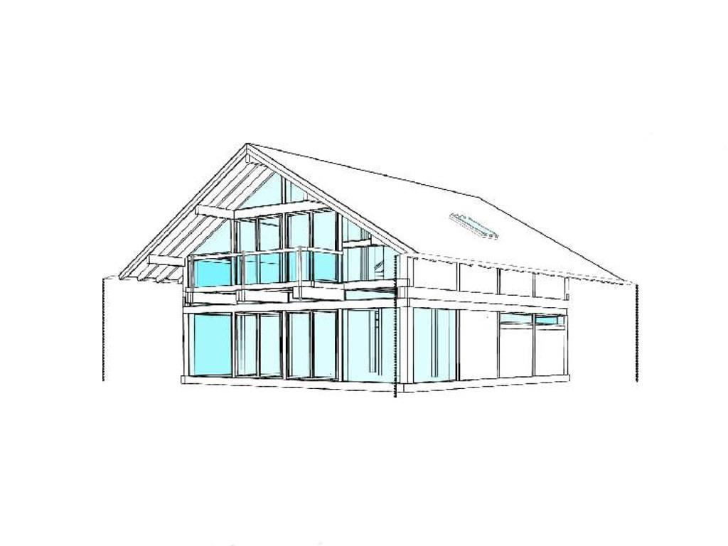 Modernes fachwerkhaus entwurf 1 concentus holzskelett haus for Modernes fachwerkhaus