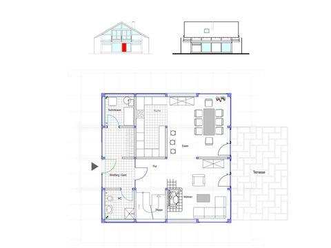 Modernes Fachwerkhaus Entwurf 1 EG