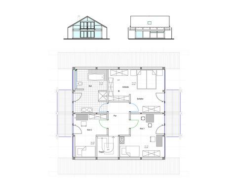 Modernes Fachwerkhaus Entwurf 1 OG