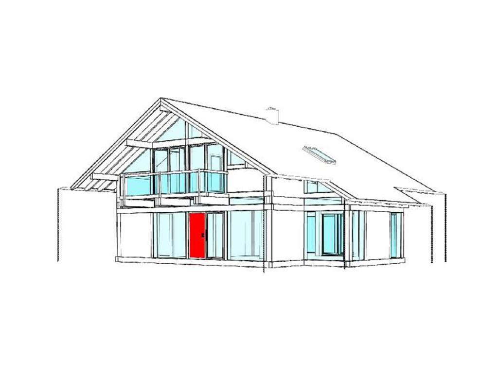 Modernes fachwerkhaus entwurf 2 concentus holzskelett haus for Modernes fachwerkhaus