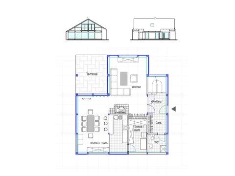 Modernes Fachwerkhaus Entwurf 2 EG - Concentus
