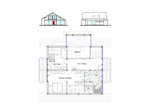 Modernes Fachwerkhaus Entwurf 2 OG - Concentus