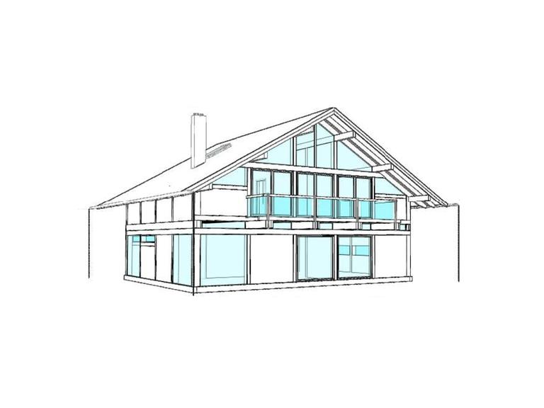 Modernes Fachwerkhaus Entwurf 3 Ansicht 2 Concentus