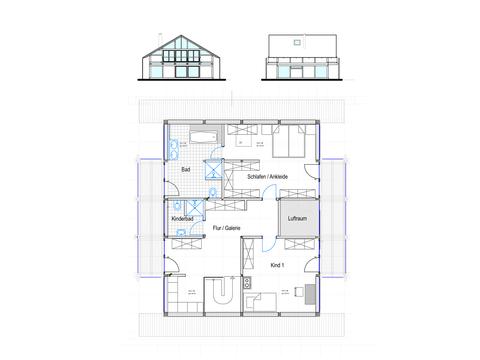 Modernes Fachwerkhaus Entwurf 3 OG Concentus
