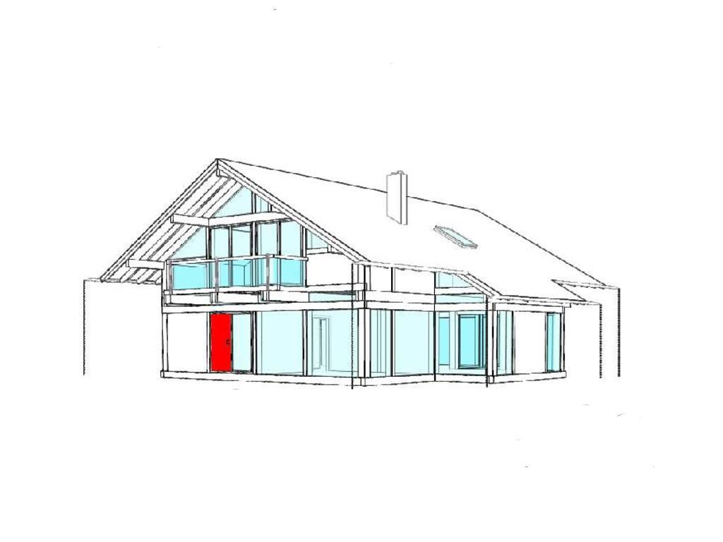 Modernes fachwerkhaus entwurf 4 concentus holzskelett haus for Modernes fachwerkhaus