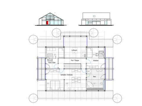 Modernes Fachwerkhaus Entwurf 4 Grundriss OG