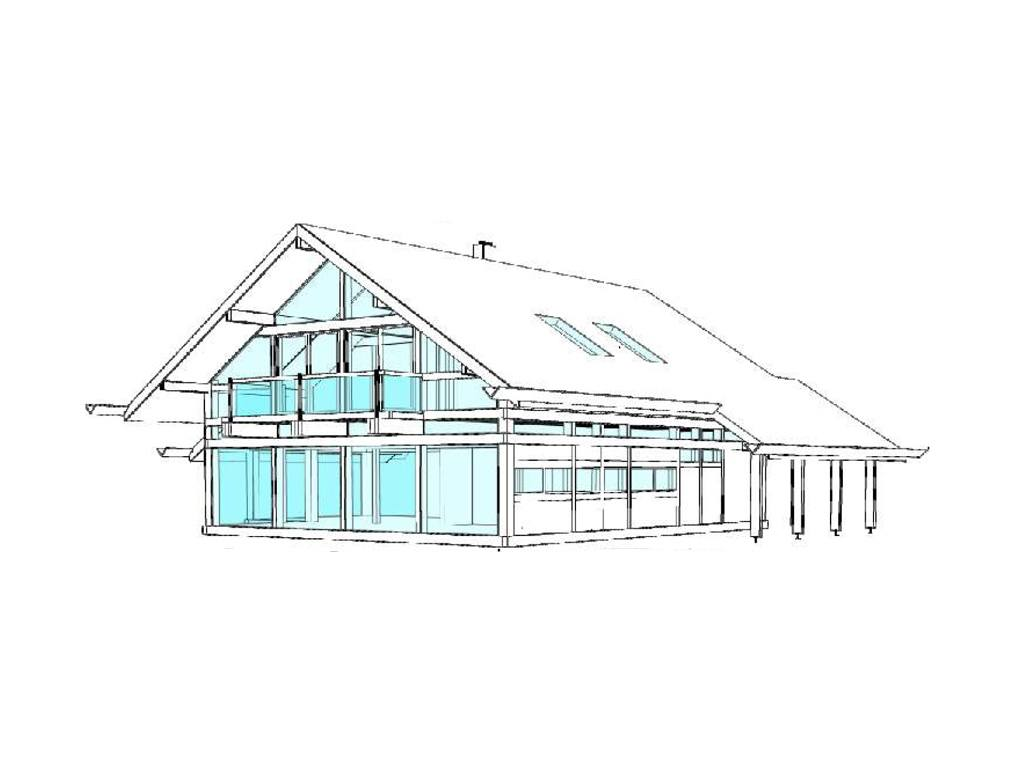 modernes fachwerkhaus entwurf 5 concentus holzskelett haus. Black Bedroom Furniture Sets. Home Design Ideas