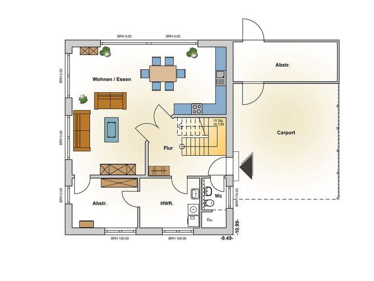 Einfamilienhaus Belleville Grundriss EG - Ästhetik Haus