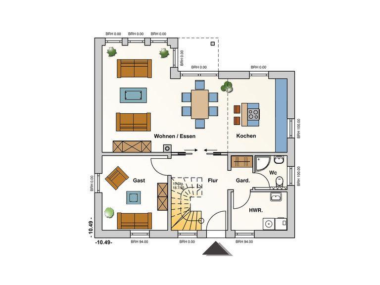 Einfamilienhaus Chelsea Grundriss EG - Ästhetik Haus