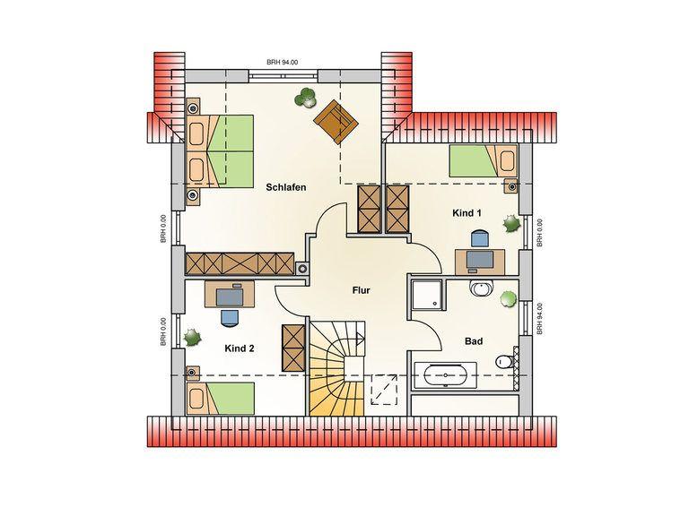 Einfamilienhaus Chelsea Grundriss OG - Ästhetik Haus