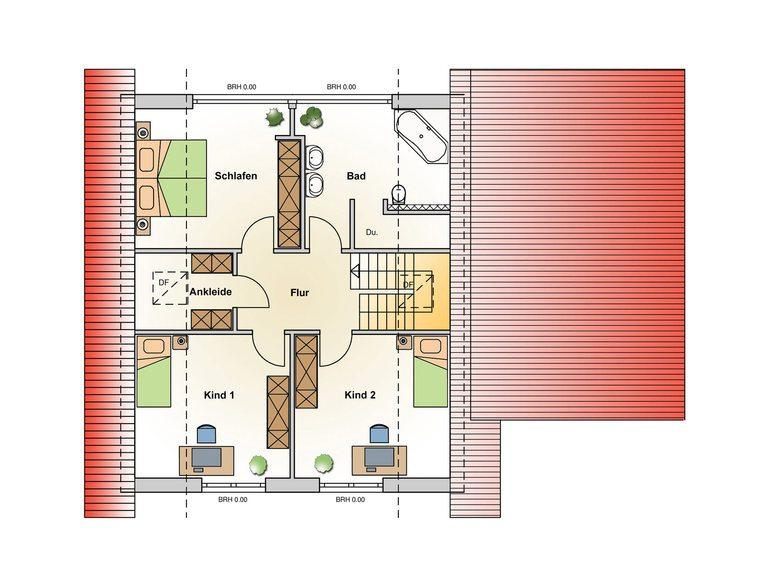 Einfamilienhaus Kristall Grundriss EG - Ästhetik Haus