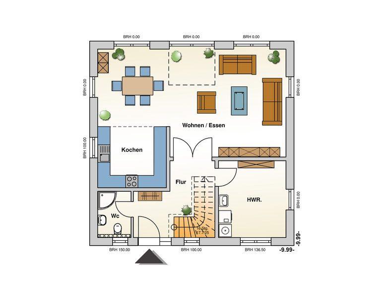 Einfamilienhaus Meran Grundriss EG
