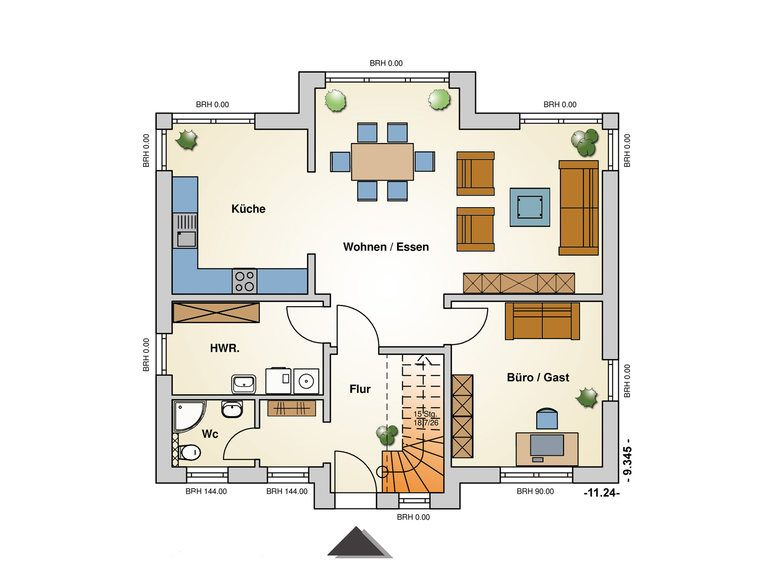 Einfamilienhaus Ravenna Grundriss EG