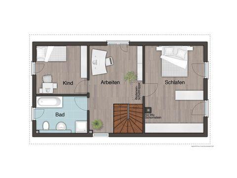 Stadthaus Aura 125 Grundriss OG - FL HausProjekt