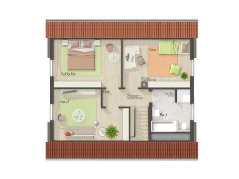Einfamilienhaus Flair 130 Grundriss DG - FL HausProjekt