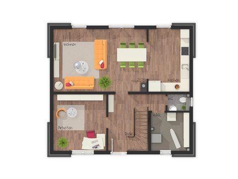 Einfamilienhaus Flair 130 Grundriss EG - FL HausProjekt