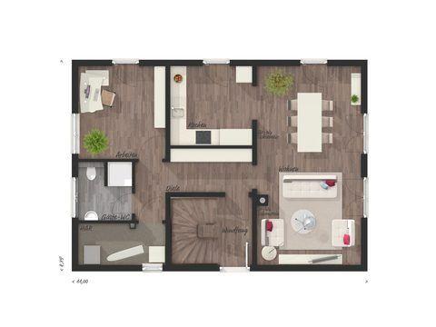 Einfamilienhaus Bodensee 129 Grundriss EG - FL HausProjekt