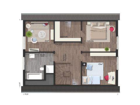 Einfamilienhaus Bodensee 129 Grundriss OG - FL HausProjekt