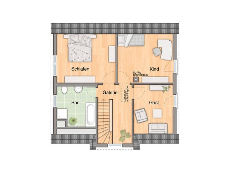 Lifestyle 120 Grundriss Dachgeschoss