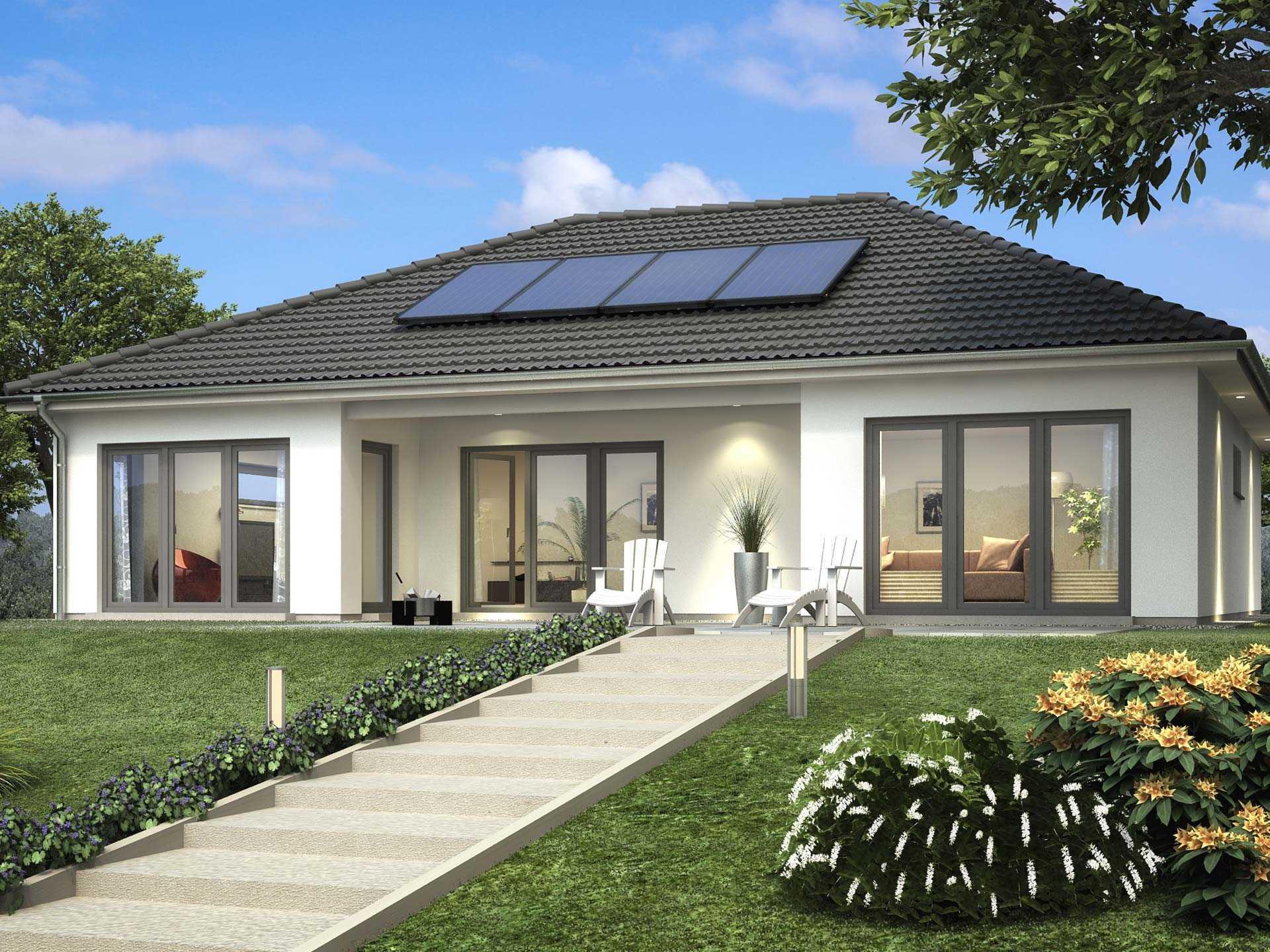 Bungalow sh 146 b scanhaus marlow for Bungalow fertighaus bauen