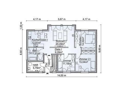 Mehrgenerationenhaus SH 195 EW - Grundriss EG