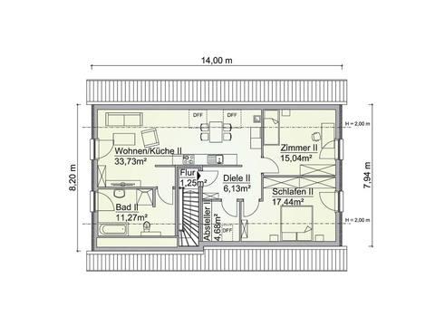 Mehrgenerationenhaus SH 195 EW - Grundriss OG