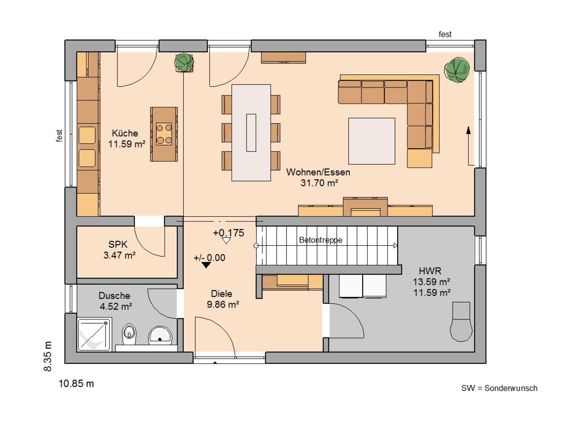 bauhaus etos kern haus. Black Bedroom Furniture Sets. Home Design Ideas