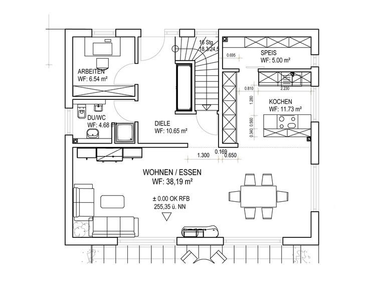 Einfamilienhaus SD151 Grundriss EG