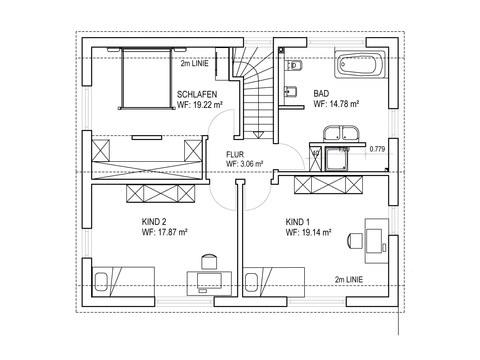 Einfamilienhaus SD151 Grundriss OG