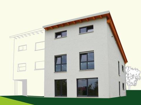 Doppelhaushälfte 134 mit Pultdach