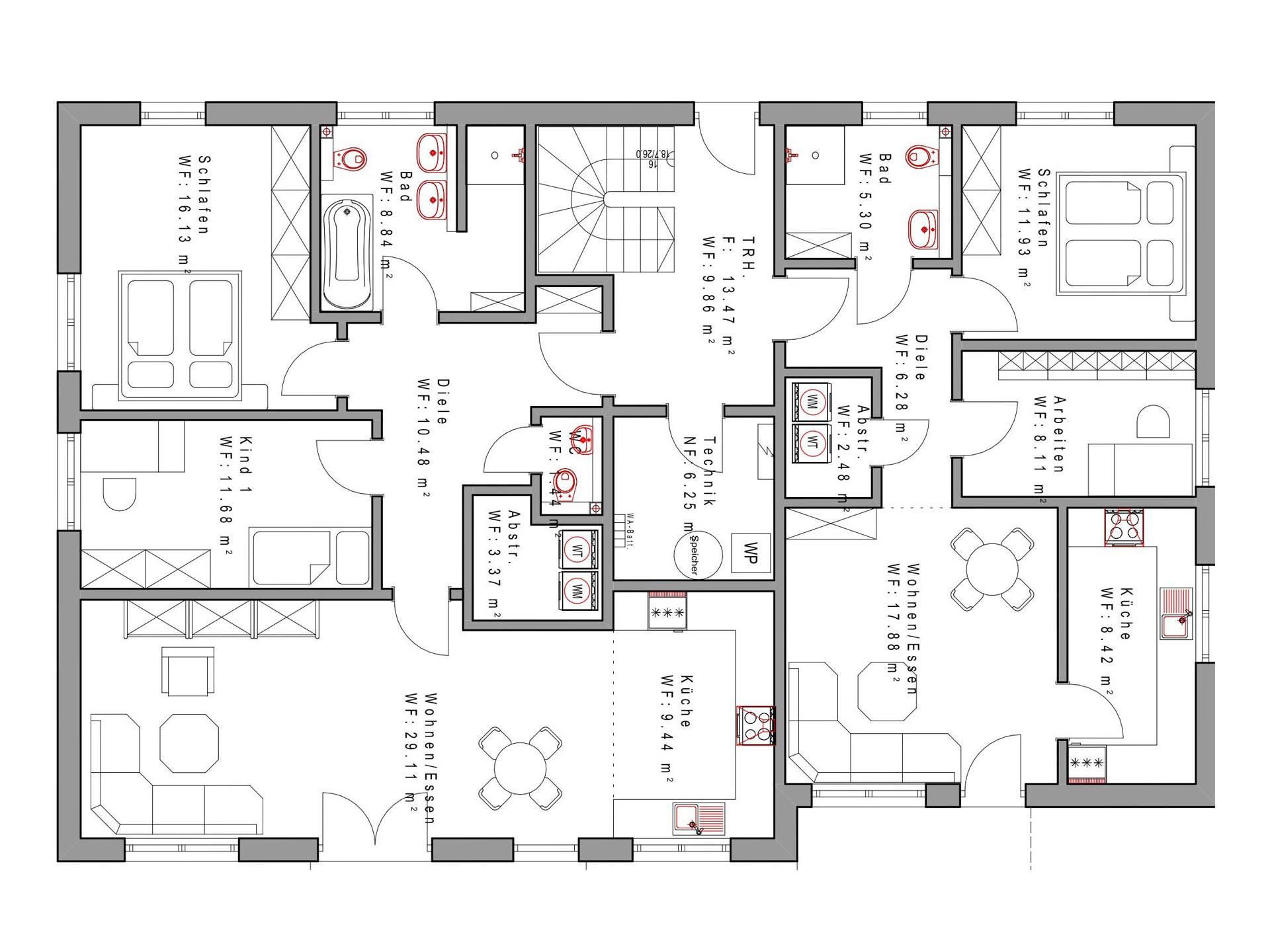 vierfamilienhaus sd338 sachsenheimer fertighaus. Black Bedroom Furniture Sets. Home Design Ideas