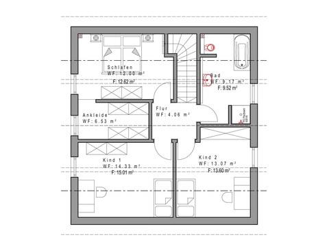 Einfamilienhaus SD132 Grundriss DG Sachsenheimer Fertighaus