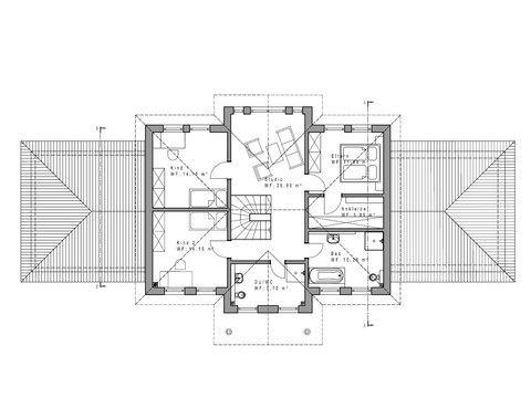 Einfamilienhaus WD 209 Grundriss OG
