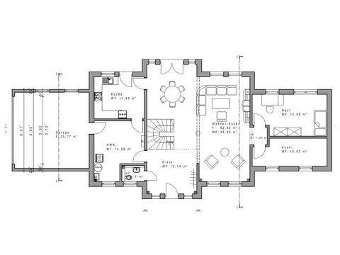 Einfamilienhaus WD 209 Grundriss EG