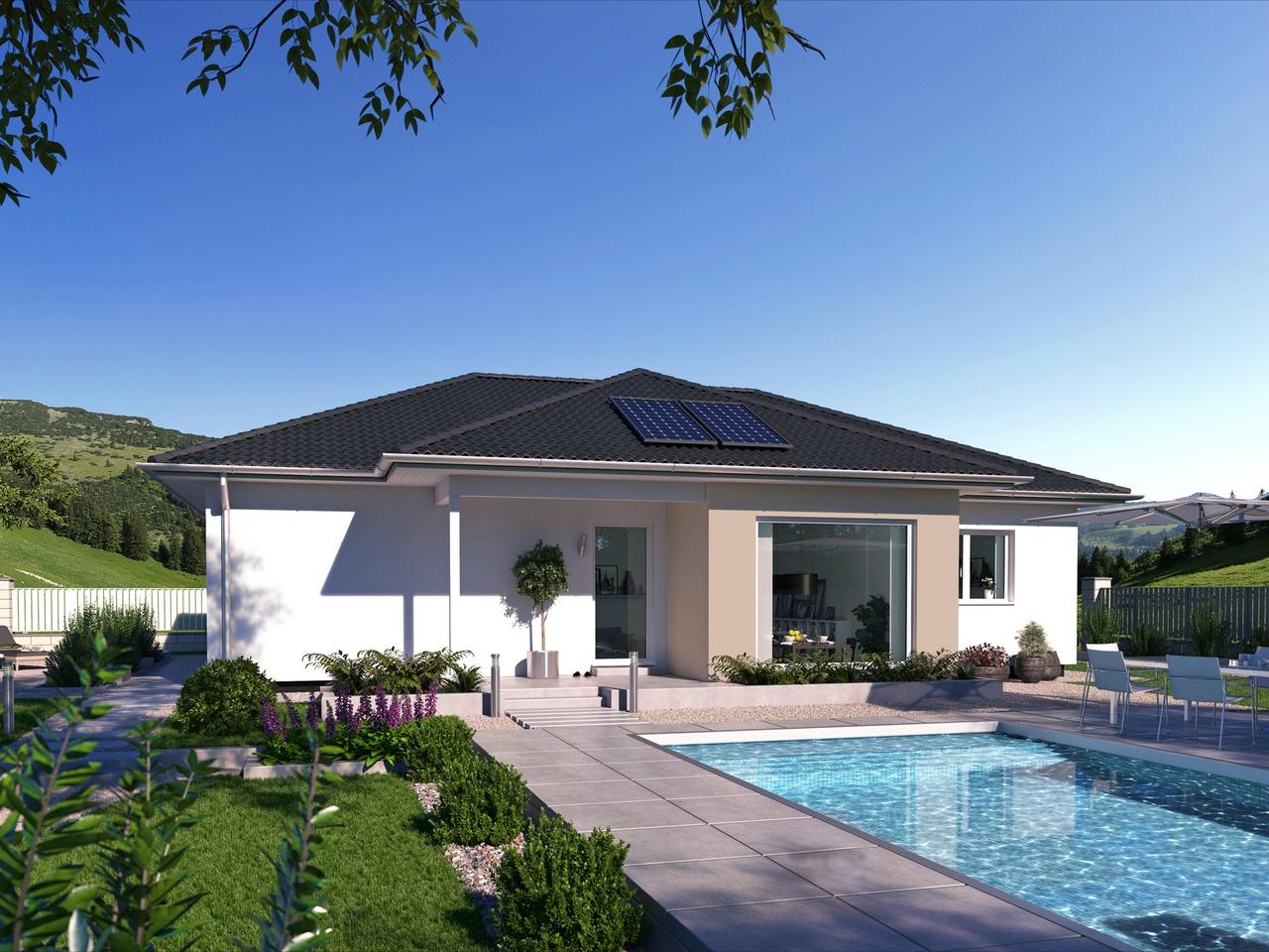 bungalow sh 113 b variante a scanhaus marlow. Black Bedroom Furniture Sets. Home Design Ideas