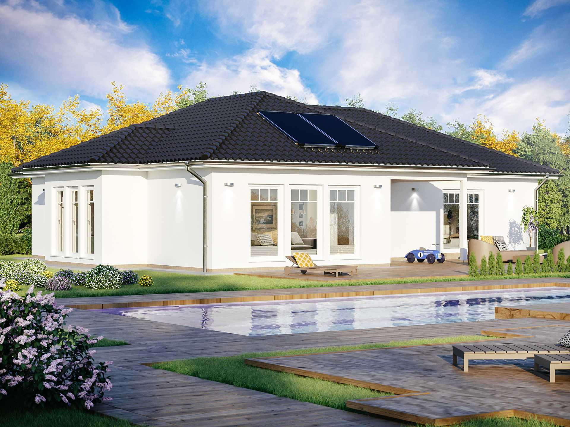 bungalow sh 160 wb scanhaus marlow. Black Bedroom Furniture Sets. Home Design Ideas