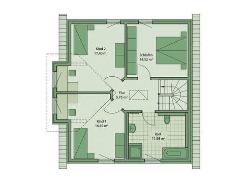 Schwabenhaus Einfamilienhaus Da Capo 68 Grundriss OG
