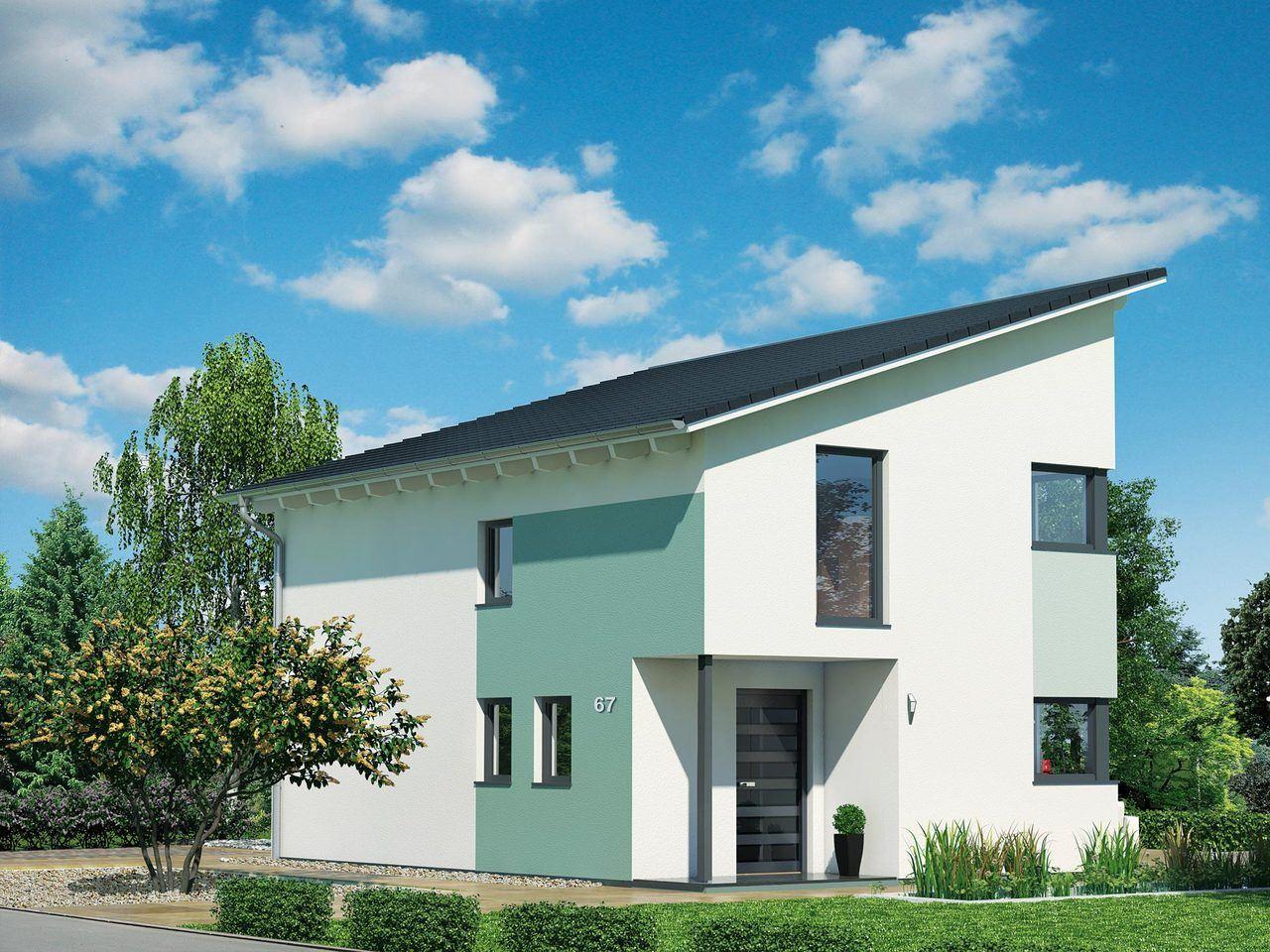 Schwabenhaus Pultdachhaus Fame 67 Ansicht 2