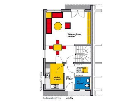 Schwabenhaus Bauhaus Avantgarde D Grundriss EG