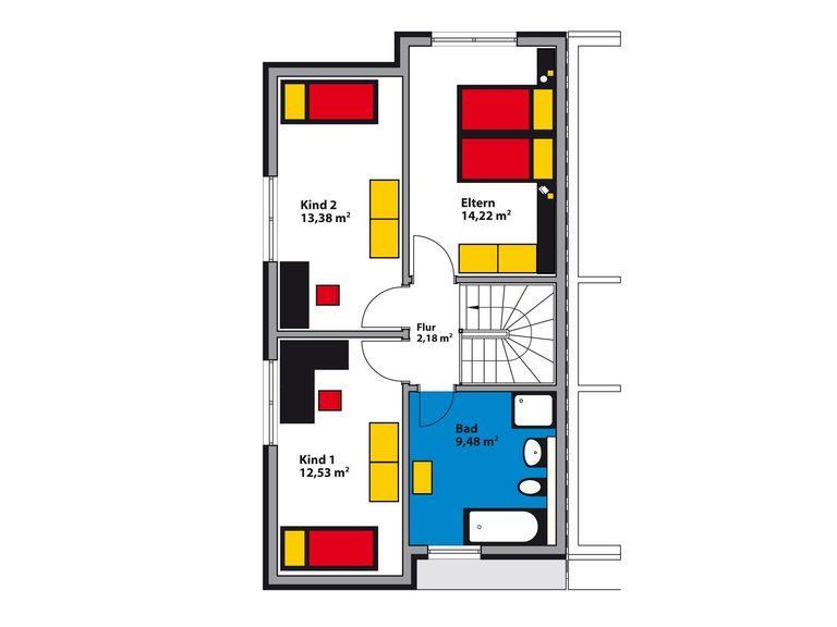 Schwabenhaus Bauhaus Avantgarde D Grundriss DG