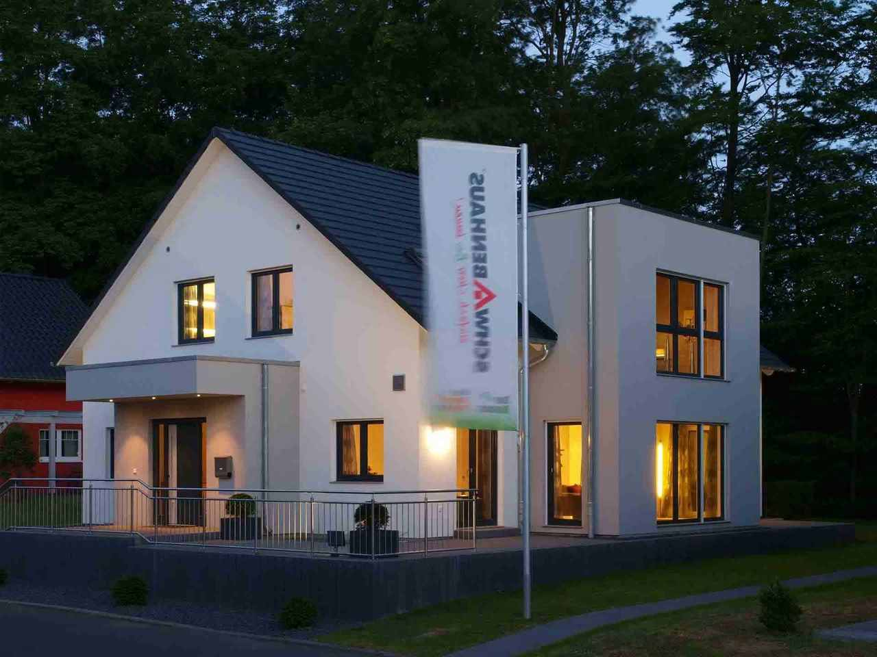 MusMusterhaus Bad Vilbel - Schwabenhaus Ansicht am Abend