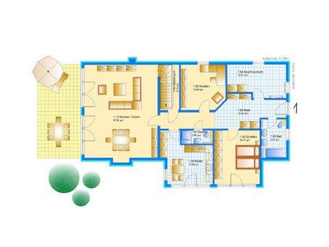 Einfamilienhaus Da Capo Sonderplanung Grundriss EG