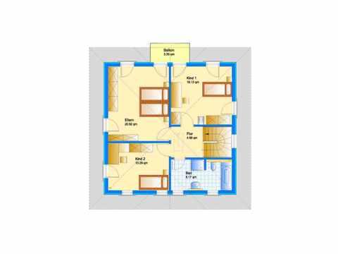 Stadtvilla Swing 79 - Sonderplanung - Schwabenhaus Grundriss OG